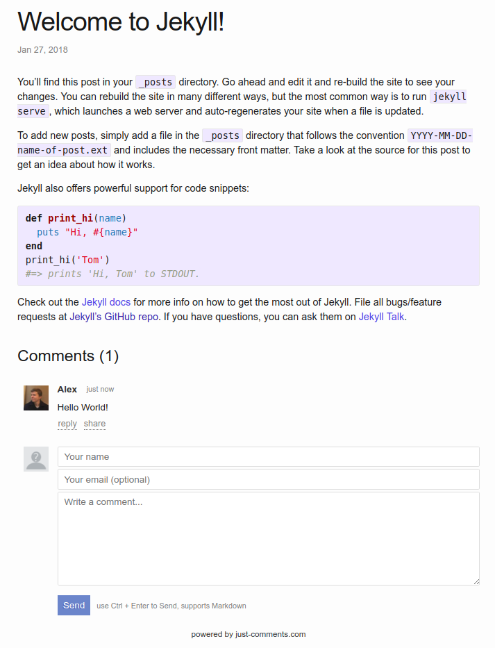Adding comments to your Jekyll blog   60devs